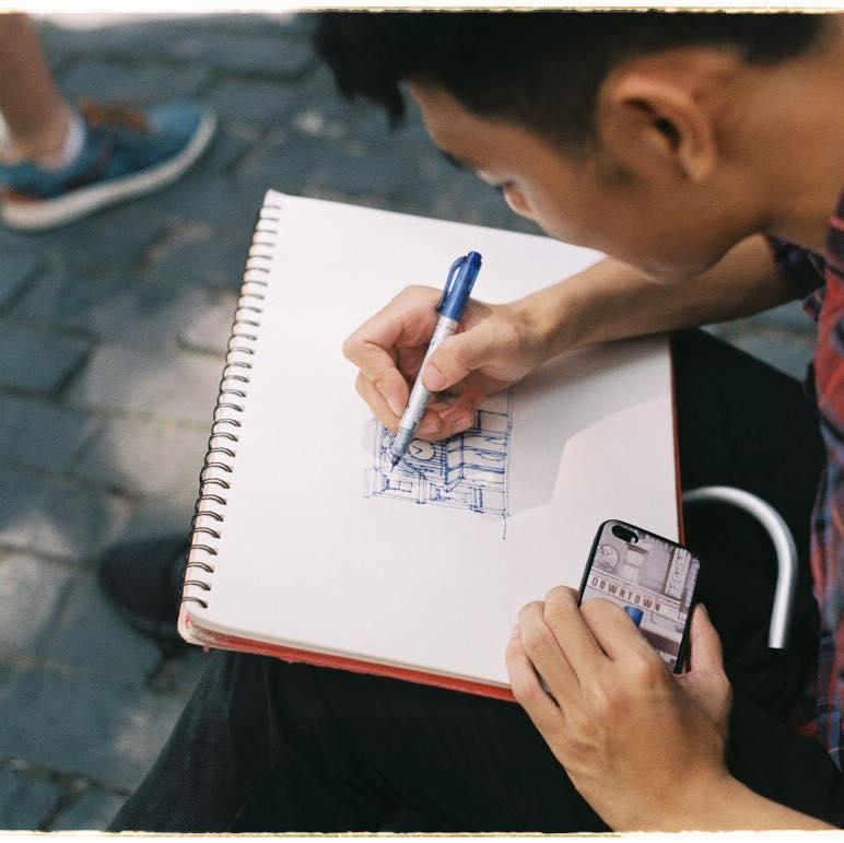 KTS Võ Ngọc Thanh Tuấn ký họa Sài Gòn, sinh viên kiến trúc kí họa