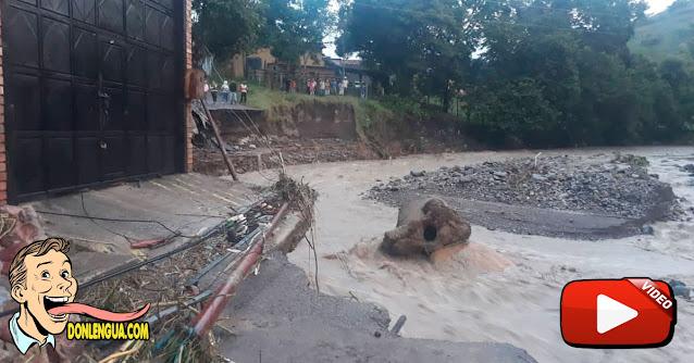 Los terroríficos videos de una nueva inundación en el Estado Táchira