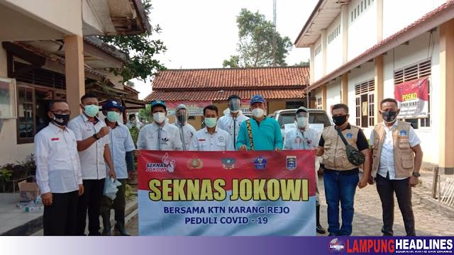 Bakti Sosial Seknas Jokowi Kota Metro bersama KTN Karangrejo