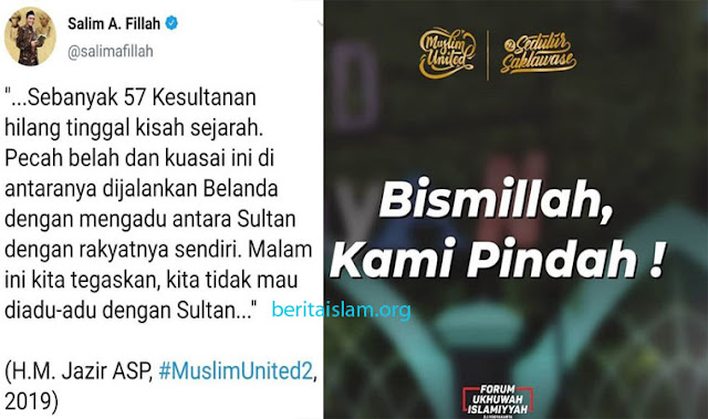 kita tidak mau diadu-adu dengan Sultan...
