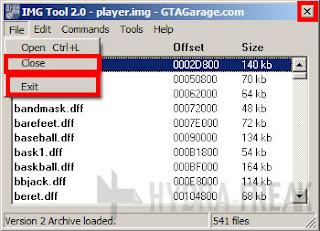 Cara keluar dari IMG Tool 2.0