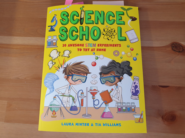 Science School STEM experiments book for children