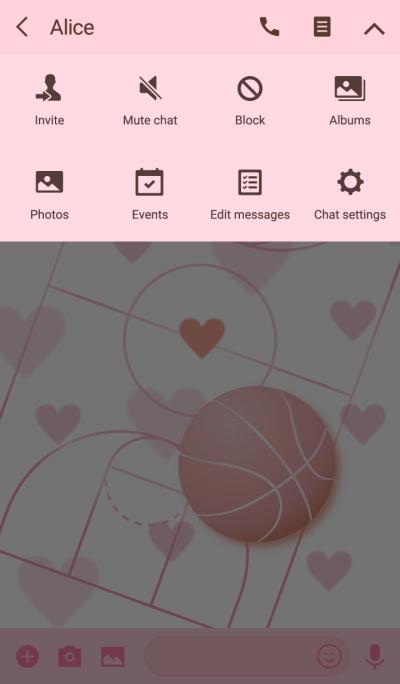 Love Pink Basketball