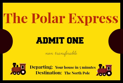 photograph regarding Free Printable Polar Express Tickets titled East Coastline Mommy: The Polar Convey Mini Van Journey