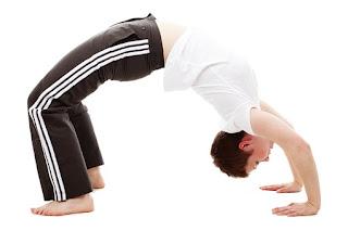 Half bridge yoga