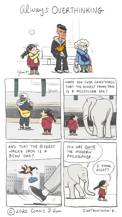 comics, cartoon, illustration, nyc, subway, street fashion, connie sun, cartoonconnie, elephant comic