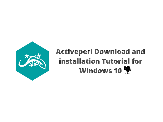 ActivePerl download and installation tutorial for Windows 10