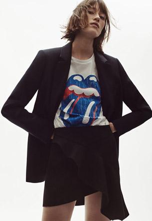 camiseta Rolling Stones Zara