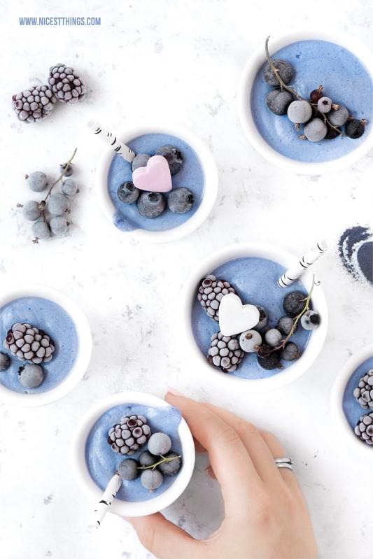 Blauer Smoothie Schmetterlingserbsen Pulver Butterfly Pea Powder