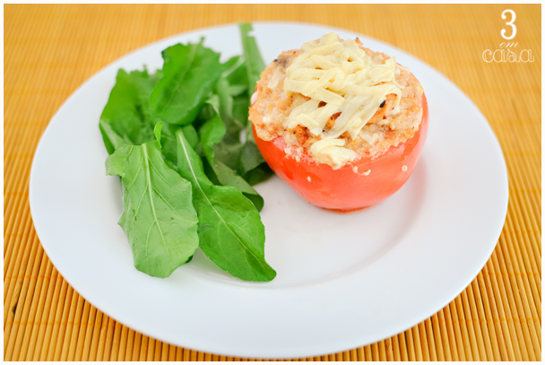tomate recheado assado