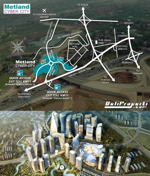 metland cyber city lokasi