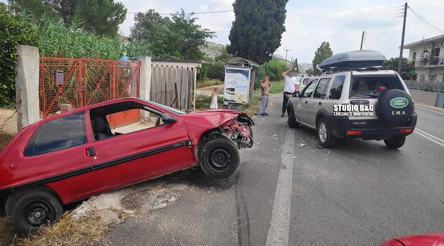 Τεσσερα αυτοκίνητα συγκρούστηκαν στο Ναύπλιο
