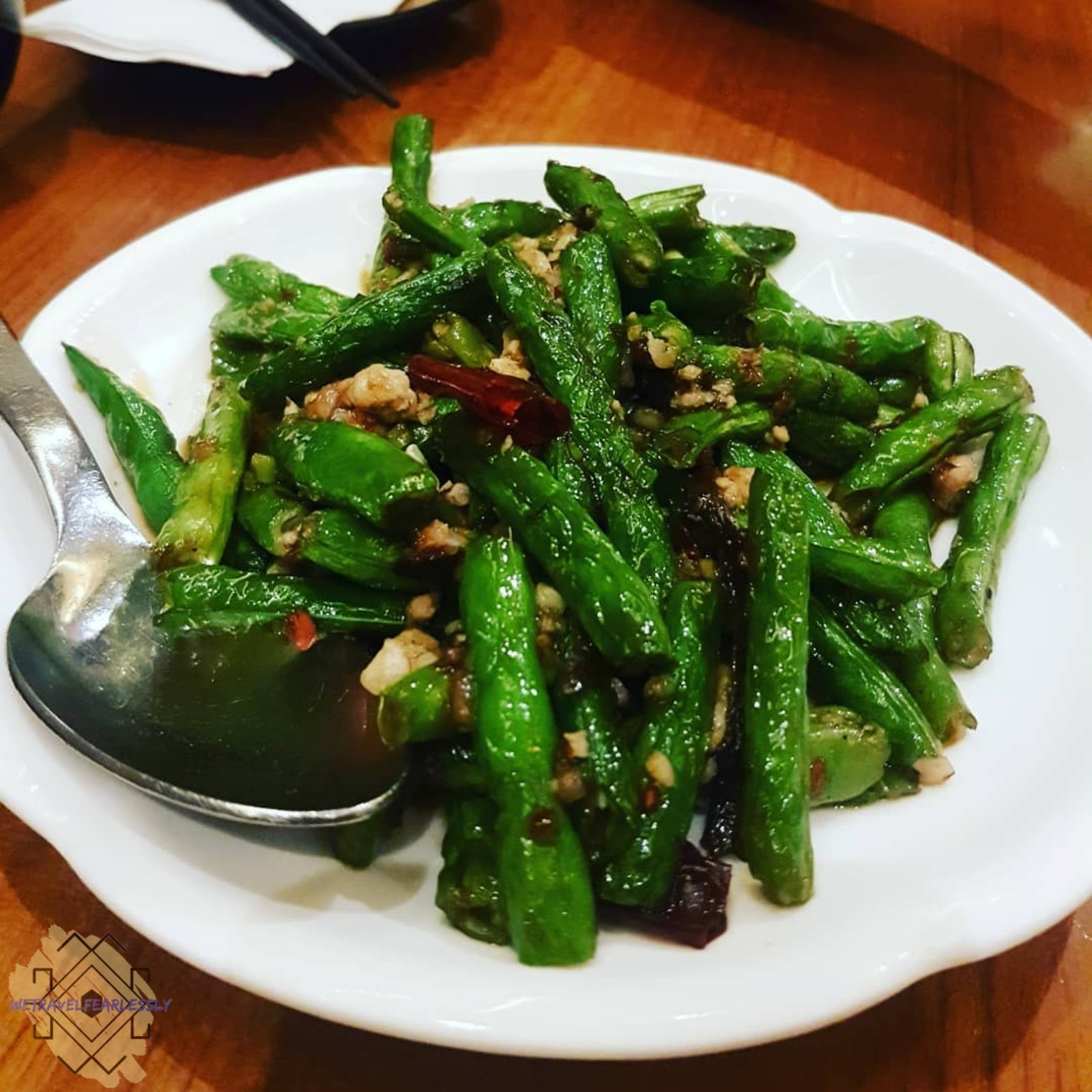 Stir-fried French Bean with Minced Pork (PHP238) in Paradise Dynasty in S Maison, Pasay City - WTF Review