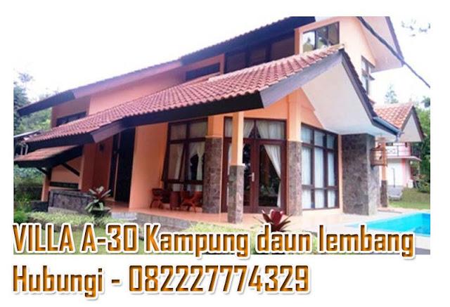 villa keluarga dengan kolam renang kampung daun lembang