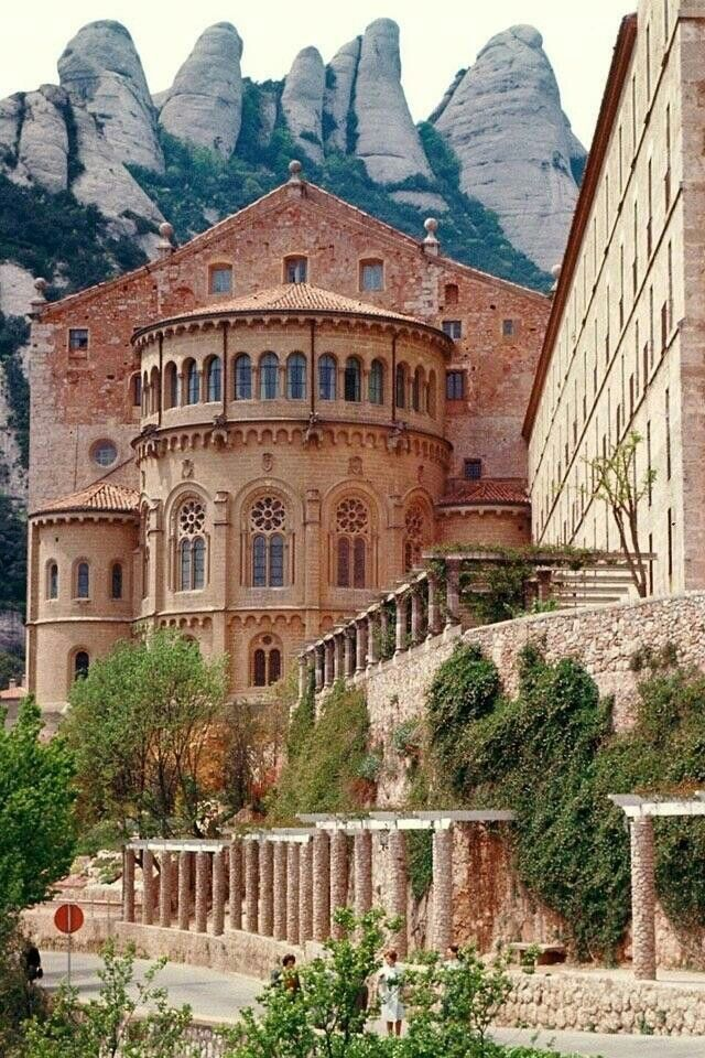 Flipping - Benedictine Monastery, Montserrat, near Barcelona, Spain