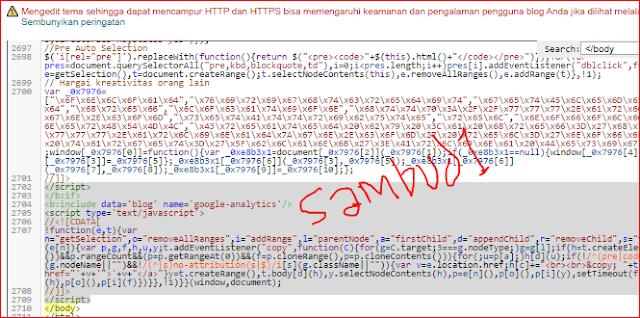 """Sambud1-Dunia blogging adalah dunia kreasi/ seni, dimana sang blogger berkreasi menulis artikel dan mendesine websitenya sebagus mungkin agar banyak pengunjung yang berkunjung kedalam blognya dan betah disana, Namun sebaliknya dalam blogging juga banyak yang men-copy paste artikel tanpa memberikan link sumbernya, sehingga yang punya artikel menjadi marah dan akhirnya melaporkan ke DMCA dan Google. Tak ada salahnya kita memposting sesuatu topik yang sudah ada di google, bahkan sudah populer, seperti """"Cara Mendftar Google Adsense"""", Di google kan sudah banyak yang posting, ratusan bahkan ribuan juta. Kita boleh memposting tentang itu asalkan dengan ide sendiri/ tulisan sendiri tak boleh hasil copas sepenuhnya. lalu bagaimana diserp google-nya? halaman pertama kah atau halaman terakhir? itu tergantung kualitas artikelnya, panjang artikelnya dan optimasi seo blog kita nya serta berapa banyak backlink pada blog kita.   Ok, kita lanjut saja ke """"Cara Membuat/ Memasang Link Artikel Saat Artikel Dicopas"""", Bagaimana caranya? sebelum saya shere caranya saya ingin memperlihatkan dulu gambar saat artikel kita dicopas, ini dia....  Sambud1-Dunia blogging adalah dunia kreasi/ seni, dimana sang blogger berkreasi menulis artikel dan mendesine websitenya sebagus mungkin agar banyak pengunjung yang berkunjung kedalam blognya dan betah disana, Namun sebaliknya dalam blogging juga banyak yang men-copy paste artikel tanpa memberikan link sumbernya, sehingga yang punya artikel menjadi marah dan akhirnya melaporkan ke DMCA dan Google. Tak ada salahnya kita memposting sesuatu topik yang sudah ada di google, bahkan sudah populer, seperti """"Cara Mendftar Google Adsense"""", Di google kan sudah banyak yang posting, ratusan bahkan ribuan juta. Kita boleh memposting tentang itu asalkan dengan ide sendiri/ tulisan sendiri tak boleh hasil copas sepenuhnya. lalu bagaimana diserp google-nya? halaman pertama kah atau halaman terakhir? itu tergantung kualitas artikelnya, panjang artikelnya dan optimasi seo"""