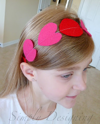 DIY Heart Felt Headband