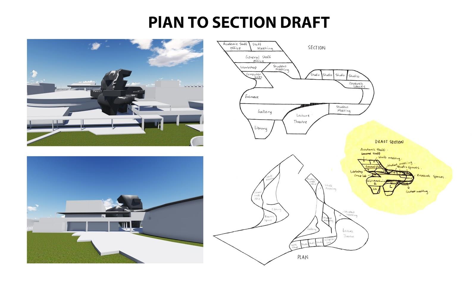 Isaac Kim: EXP 3 - Plan to Section Draft (Zaha Hadid ...