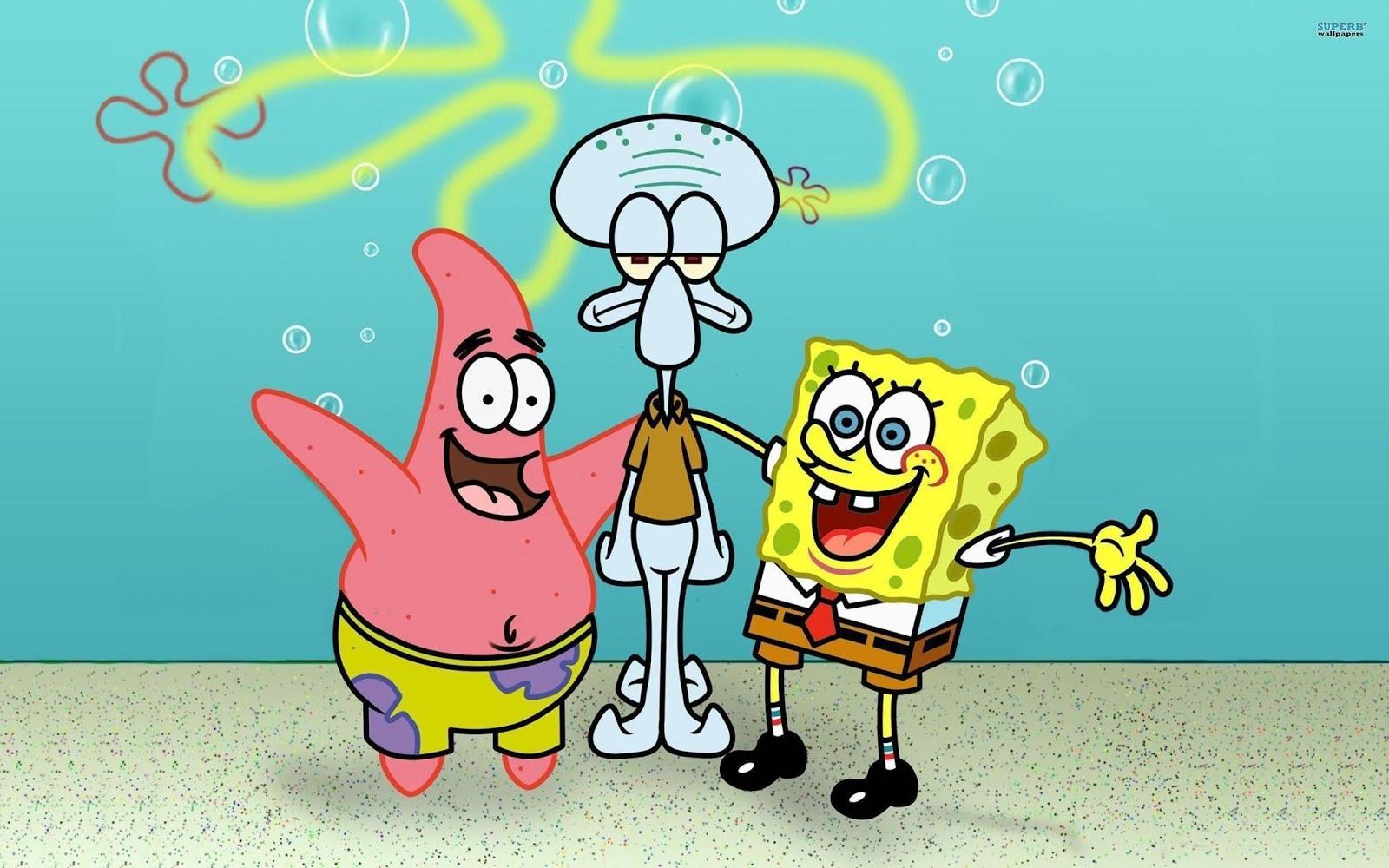 Patrick dan Spongebob membuat Squidward tidak tenang