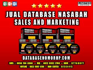 Jual Database Prospek Sales And Marketing