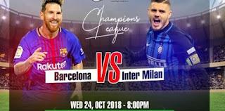 مباشر مشاهدة مباراة برشلونة وانتر ميلان بث مباشر 24-10-2018 دوري ابطال اوروبا 2018 يوتيوب بدون تقطيع