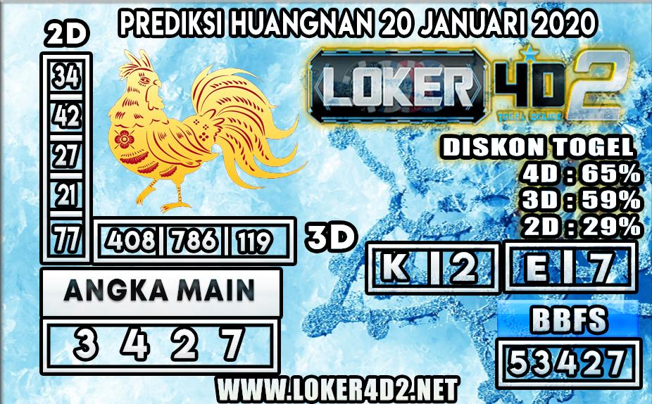 PREDIKSI TOGEL HUANGNAN LOKER4D2 20 JANUARI 2020