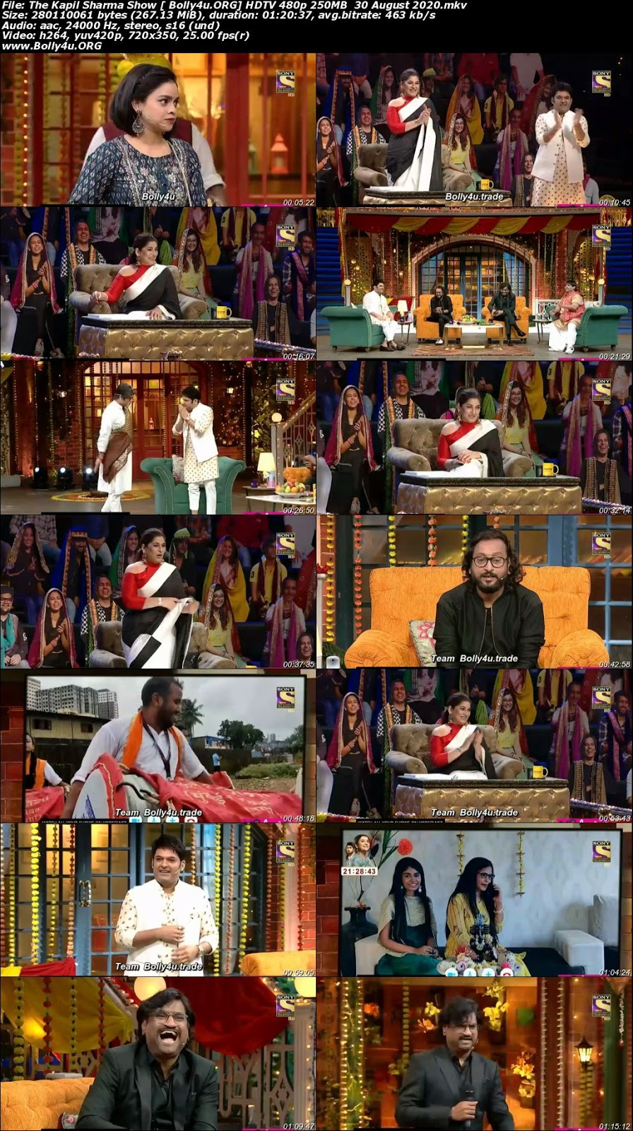 The Kapil Sharma Show HDTV 480p 250MB 30 August 2020 Download