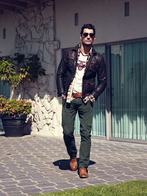 David Gandy Source David Gandy is a Casual Vision for Lucky Brand Winter 2012 Campaign