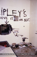Cell damage after riot, No.1 Division, Boggo Road Gaol, Brisbane, 1980s.
