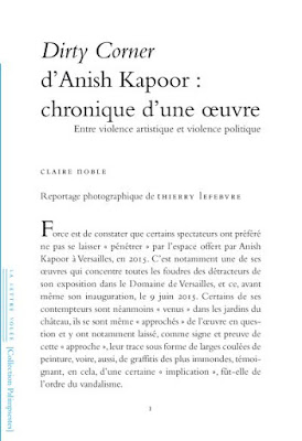 Anish Kapoor ; Claire Noble ; Thierry Lefebvre