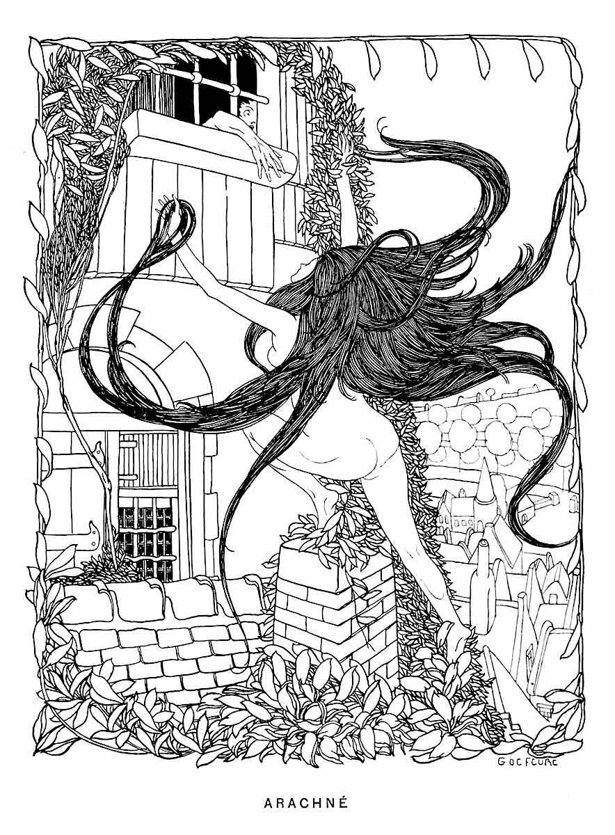 a Georges de Feure illustration 1899, Arachne