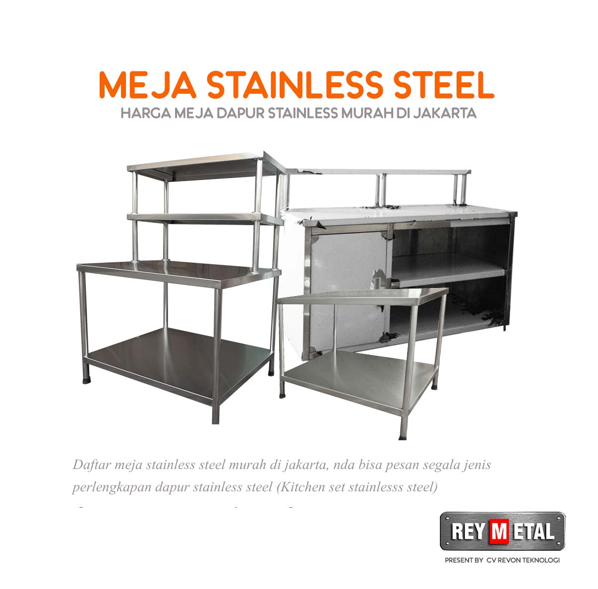 Harga Meja Stainless Steel Murah Bergaransi