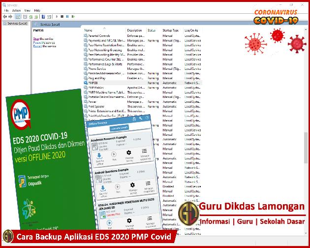 Cara Backup Aplikasi EDS 2020 PMP Covid