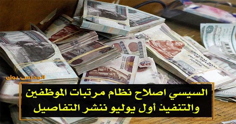 السيسي اصلاح نظام مرتبات الموظفين والتنفيذ أول يوليو ننشر التفاصيل