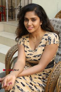 Telugu Actress Karunya Chowdary Stills in Short Dress at ATM Not Working Press Meet  0118.jpg