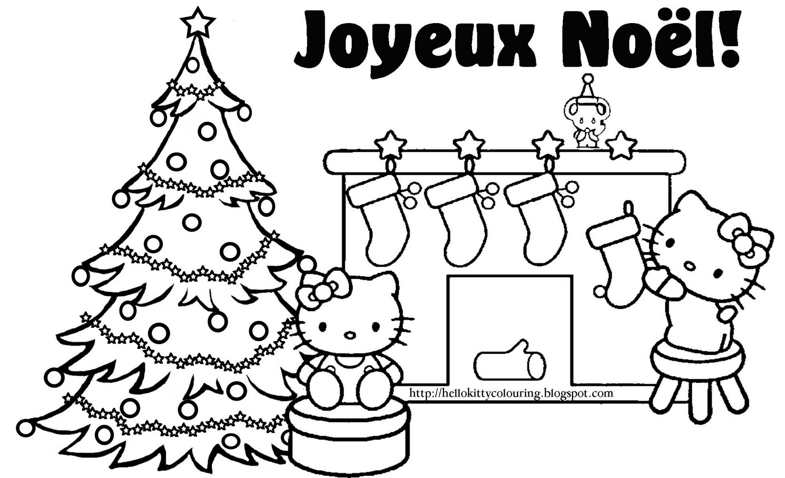 Hello Kitty Christmas Coloring Pages #2