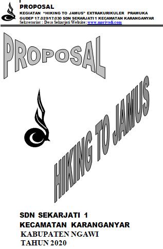 Proposal Hiking Pramuka SDN Sekarjati 1 Kecamatan Karanganyar