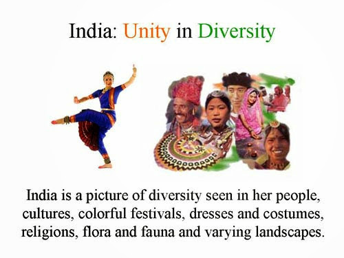 essay on unity in diversity my country india Please give me an essay on unity in diversity in india  color and the emotional richness of dances is a feature of india's culture unity the country.