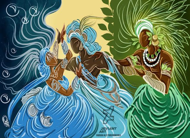 Batuque do Rio Grande Sul Iemanjá Lendas dos Orixás Odé Orixás Ossanha Religião Afro  - As lagrimas de Iemanjá por Odé