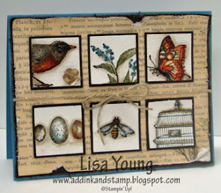 Nature's Walk stampin' Up! stamp set. Watercolored nature images. Handmade card by Lisa Young, Add Ink and Stamp