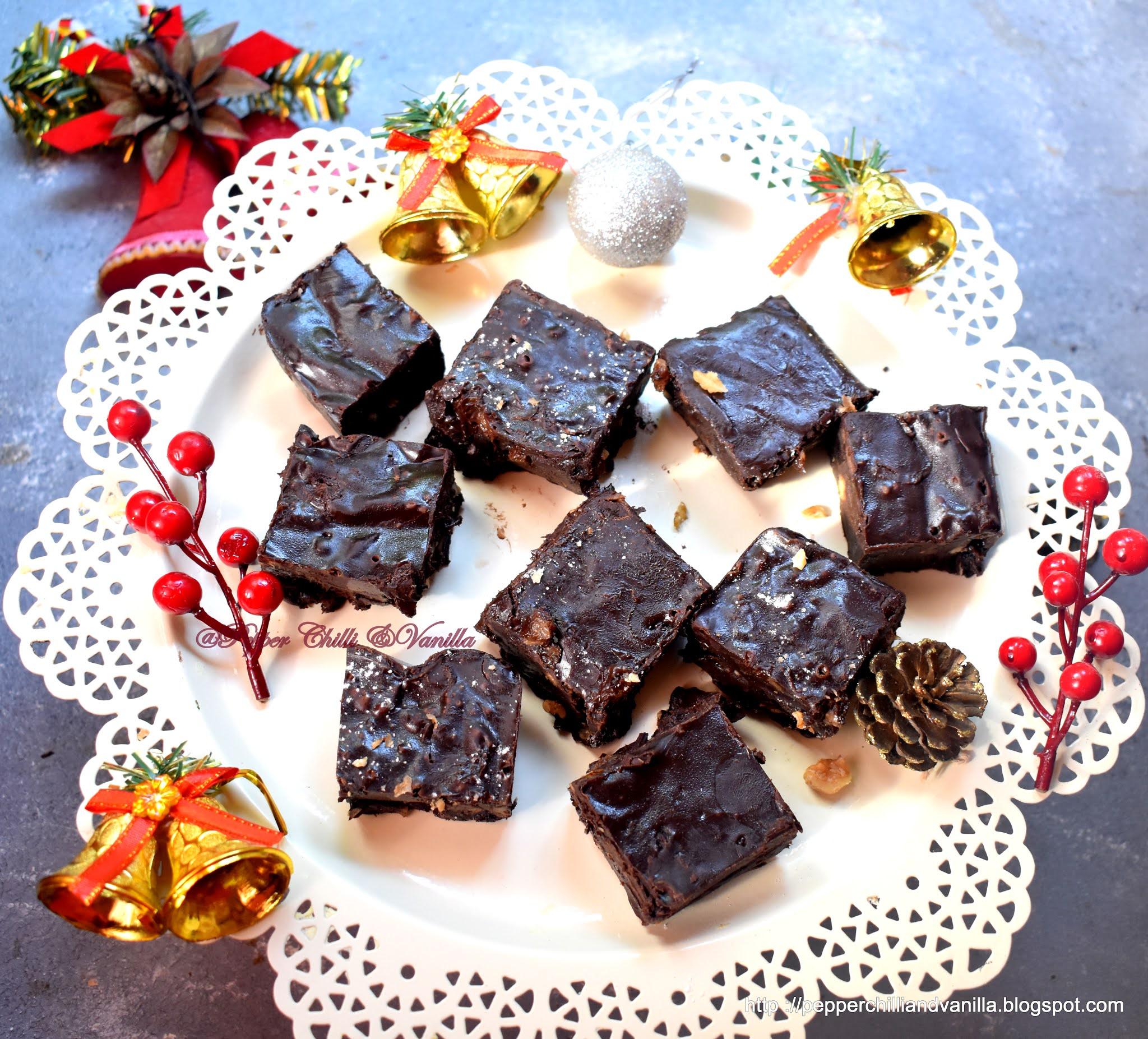 rum and raisins fudge, chocolate fudge, dark chocolate fudge
