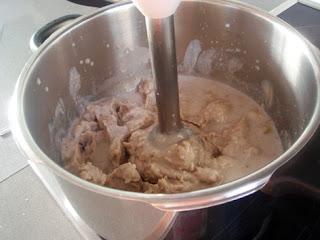 elaboración del puré de castañas