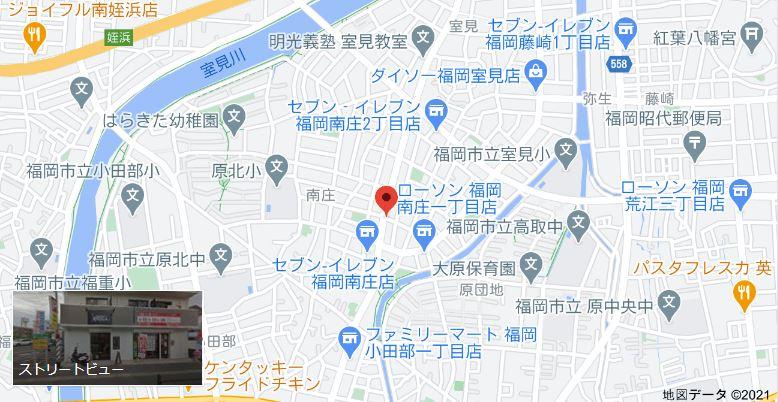バーバーカワサキまでの地図
