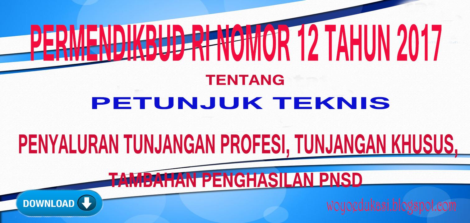 Download Juknis Penyaluran Tunjangan Profesi Tunjangan