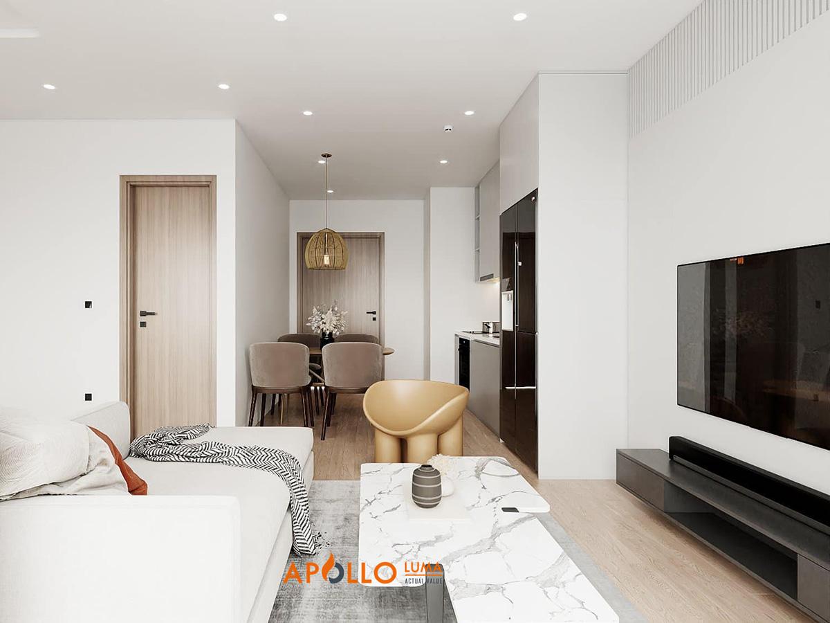 Thiết kế nội thất căn hộ 2PN Vinhomes Smart City
