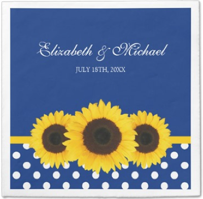 http://www.zazzle.com/sunflowers_blue_white_polka_dot_wedding_taylorcorpnapkin-256658739715909174?rf=238845468403532898