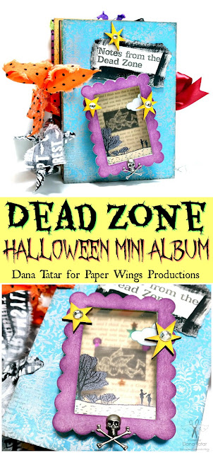 Dead Zone Halloween Mini Album by Dana Tatar for Paper Wings Productions