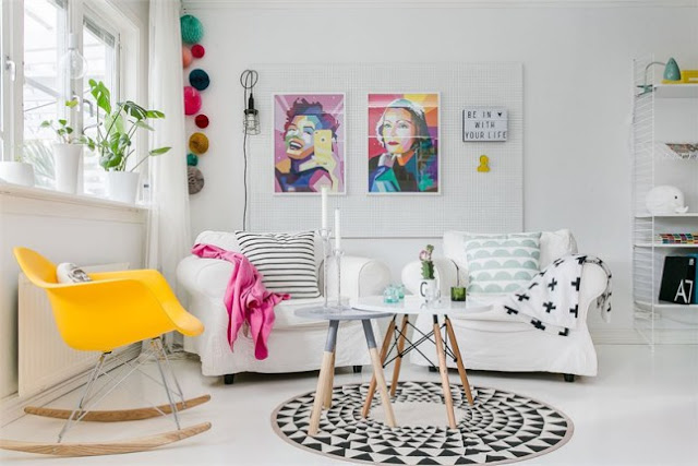 decoracion-piso-nordico-blanco-colores-vivos