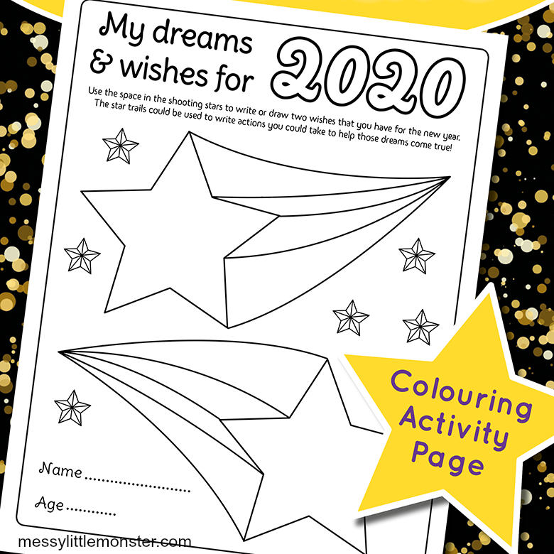 celebrate new years eve with kids with this resolution worksheet