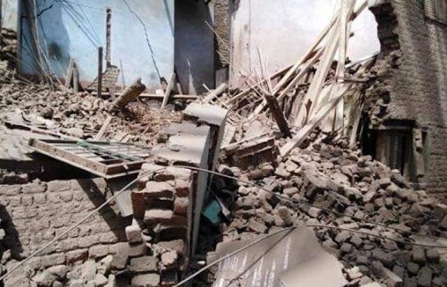 انهيار جزئى بمنزل دون حدوث خسائر بالأرواح بطما فى سوهاج